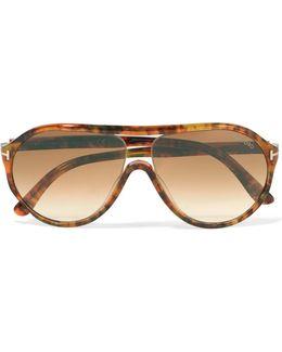 Aviator-style Clear-acetate Sunglasses