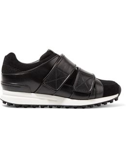 Trance Mesh And Leather Sneakers