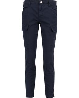 Cotton-blend Twill Skinny Pants