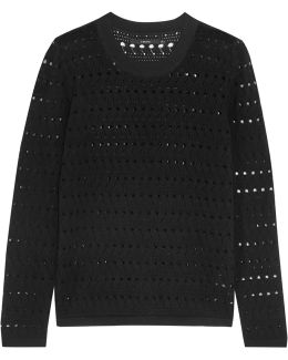 Colony Open-knit Cotton And Cashmere-blend Sweater