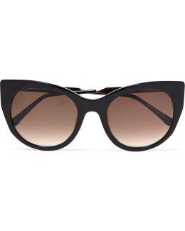 Dirtymindy Cat-eye Acetate Sunglasses