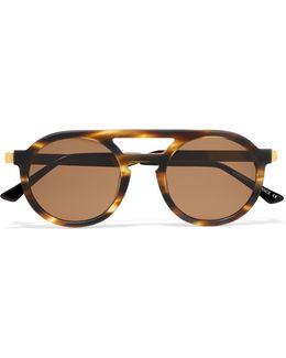Gravity Round-frame Matte-acetate Sunglasses