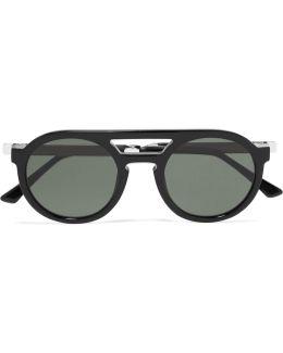 Gravity Round-frame Acetate Sunglasses