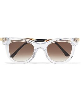 Nudity Square-frame Acetate And Metal Sunglasses