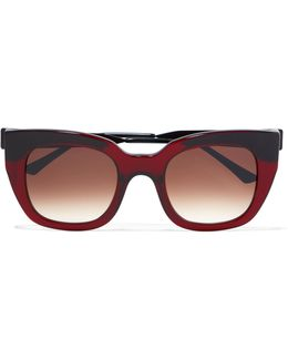 Swingy Square-frame Acetate Sunglasses
