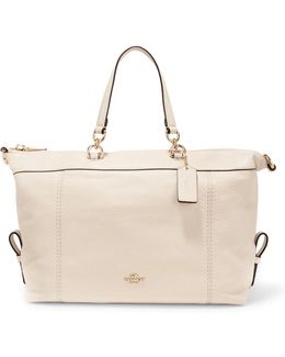 Lenox Textured-leather Tote