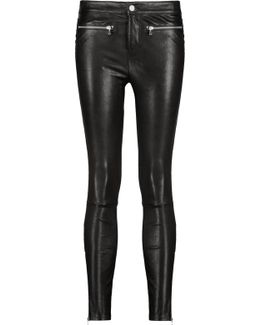 Emma Stretch-leather Skinny-leg Pants