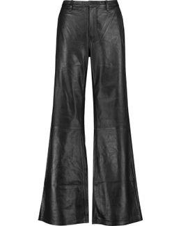 Carine Leather Wide-leg Pants