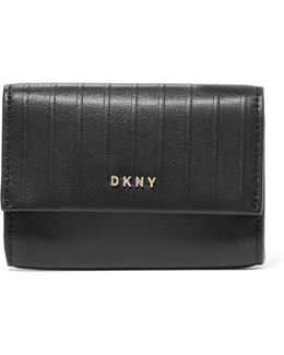 Paneled Leather Wallet
