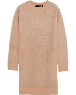 Metallic Open-knit Mini Dress