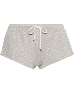 Flynn Polka-dot Stretch-jersey Pajama Shorts