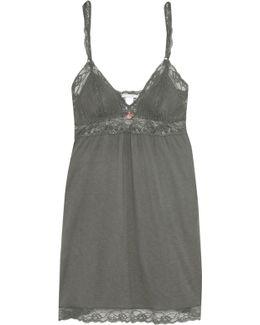 Francine Lace-paneled Stretch-jersey Camisole