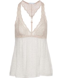 Georgette Lace-trimmed Jersey Camisole