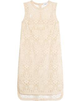 Velvet Lace Mini Dress