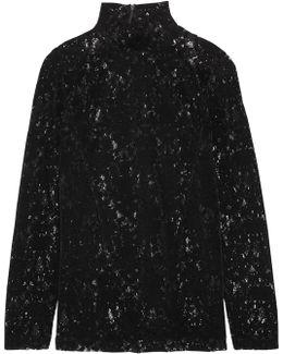 Velvet-lace Top