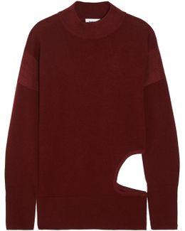 Cutout Stretch-merino Wool Sweater