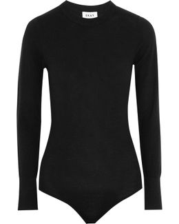 Stretch Merino Wool-blend Bodysuit