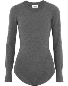 Wool-blend Turtleneck Bodysuit