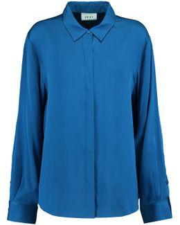 Stretch-silk Satin Shirt