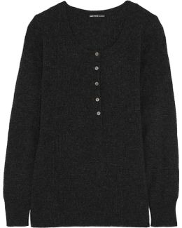 Henley Thermal Cashmere Sweater