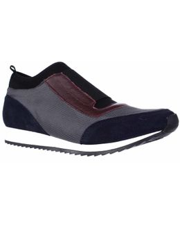 Pantheon Laceless Slip On Fashion Sneakers - Blue