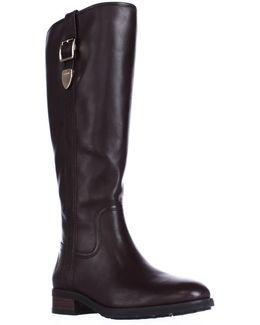 Easton Wide Calf Dress Riding Boots - Chestnut
