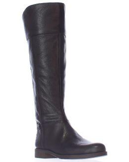 Christine Wide Calf Riding Boots - Black