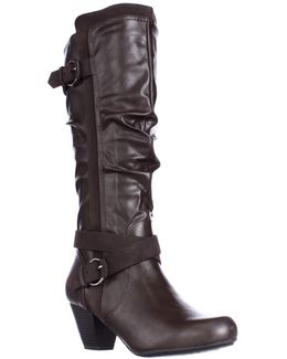 Crystal Knee High Slouch Boots