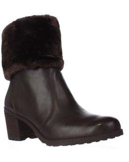 Incognito Faux Fur Cuff Winter Ankle Boots