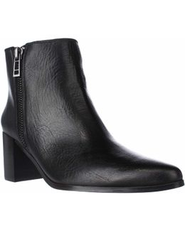 Uma Pointed Toe Booties - Black