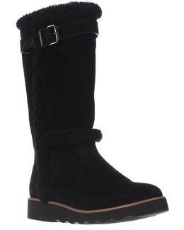 Belment Mid-calf Fleece-lined Winter Boots - Black