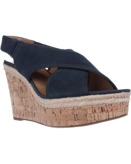Taylor Wedge Platform Cross Strap Sandals