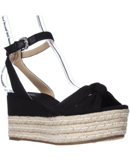 Michael Maxwell Mid Wedge Platform Ankle Strap Sandals