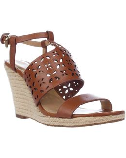 Michael Darci Wedge Sandals - Luggage