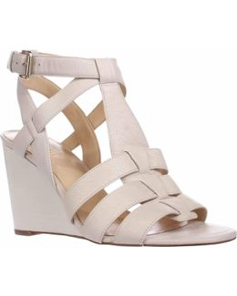 Farfalla Strapped Wedge Sandals - Off White