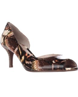 Jessie Peep Toe Pumps - Butterfly Print