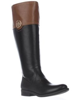 Silvan3 Wide Calf Knee High Logo Riding Boots