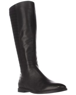 Donnily Wide Calf Quilted Boots
