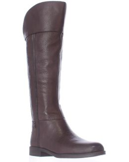 Christine Wide Calf Riding Boots - Java