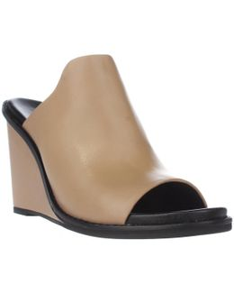 Pandra Peep-toe Wedge Mules