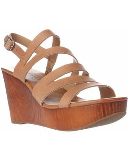 Marinaa Wedge Strappy Sandals - Clay
