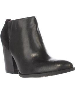 Leslee3 Block Heel Ankle Booties