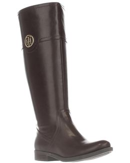 Silvan2 Wide Calf Logo Riding Boots