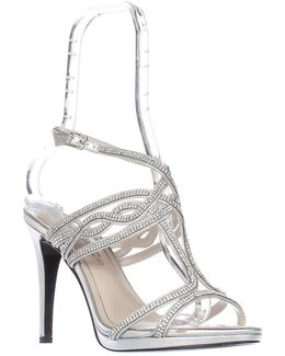 Heather T-strap Rhinestone Sandals