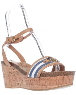 Hesley Wedge Platform Ankle Strap Sandals