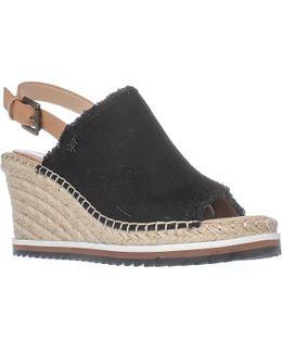 Yolanda Wedge Espadrille Sandals - Black Multi