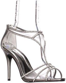 Bluebell Mesh T-strap Sparkle Dress Sandals