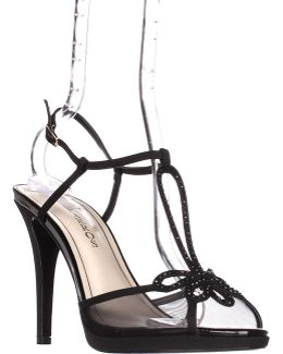 Claudia Strappy Rhinestone Dress Sandals