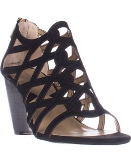 Alby Caged Wedge Sandals