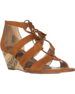 Opiuma Lace-up Wedge Sandals